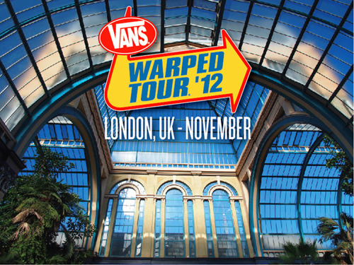 Details for the UK date of the Vans Warped Tour have been revealed! The one day festival will be taking place on November 10th, in London's Alexandra Palace. The full line-up, as well as tickets for the event, will be unveiled on May 8th at 9pm here. There's still time to register your interest, as well as put forward names of acts you want to see at the festival. Stick with SSP for more UK Warped Tour news!