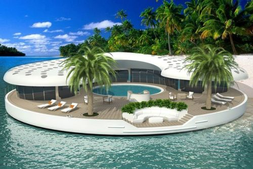 """A Dubai-based joint venture has developed a floating island concept which it says could answer the needs of owners of islands in Nakheel's The World project"" More photos here"