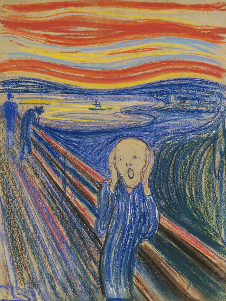 The Scream (1895) by Edvard Munch On Sotheby's may 2 Impressionist & Modern art Evening Sale. Wanna place a bid? :)