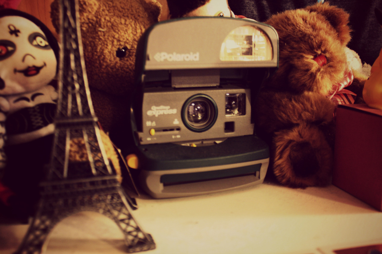 meghantonjes:  thenotsouglygirl:  OMG POLAROID CAMERA GIVEAWAY! I've been meaning to put it up on eBay or sell it or something but I decided what the heck; I'll give it away to my followers, since you're all so amazing. it's a one-step express polaroid (produced somwehere between 1981 - 86) it still work, maybe not as great as it used to (the top pictures are samples, maybe it was the film I bought for it though - I'm not sure - but they all fade at the top) it 'Impossible film PX600' colour and black & white. so if you're a photography and camera nut like myself, or you just want some fucking awesome old-school camera; here ya go~ RULES: you don't have to be following me. I'm a fitspo blog, so I get not everyone wants to follow… but it'd be nice :3 reblog as many times as you want - likes don't count. I'll be using one of those random number pickers make sure your ask is open so I can message you if you've won it. if the winner doesn't reply within 10 days I'll have to pick a new one. I'll ship anywhere because I'm so fucking nice and awesome. and that's all I can think of. this is my first ever giveaway, so don't make it a pain in the ass. the winner will be chosen on June 5th because that's my liddo sister's birthday and I won't forget that way :) Ladies and Gentlemen, let my first ever give-away begin! and may the odds, be ever in your favour.  want.