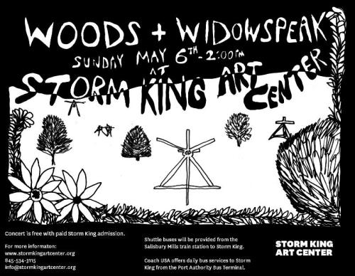 Woods adds special show w/ Widowspeak at Storm King Art Center in New Windsor, NY