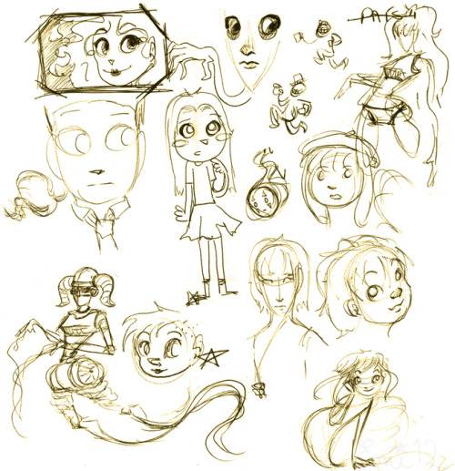More doodles.