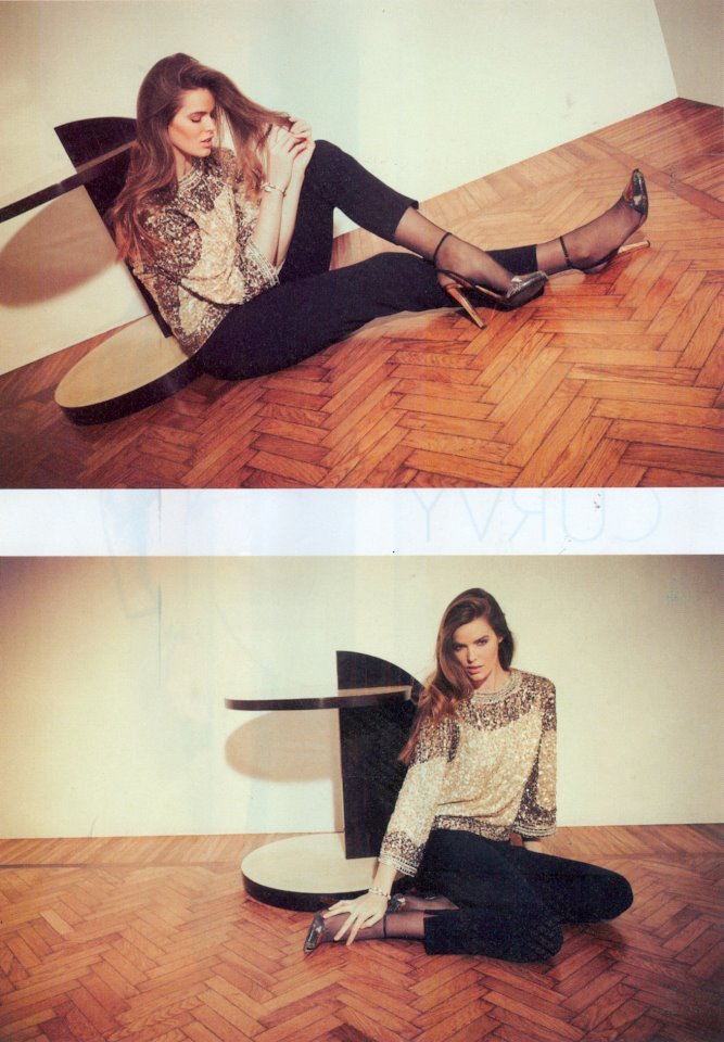 Model Robyn Lawley in the May 2012 issue of Gioia.