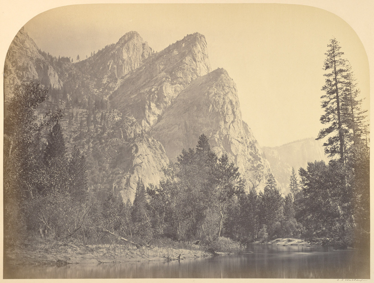 The Three Brothers, Yosemite. 1861. 'Carleton Watkins: The Complete Mammoth Photographs,' by Weston Naef and Christine Hult-Lewis, has been awarded the 2012 Kraszna-Krausz Best Photography Book Award. Judge Jem Southam explains how the decision was made. See more here.