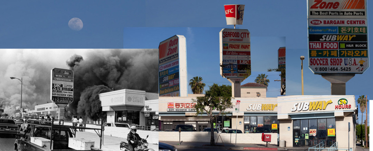 timelightbox:  For the 20th anniversary of the L.A. riots, photographer Mae Ryan has made collages of then-and-now images.  See more of her work here.