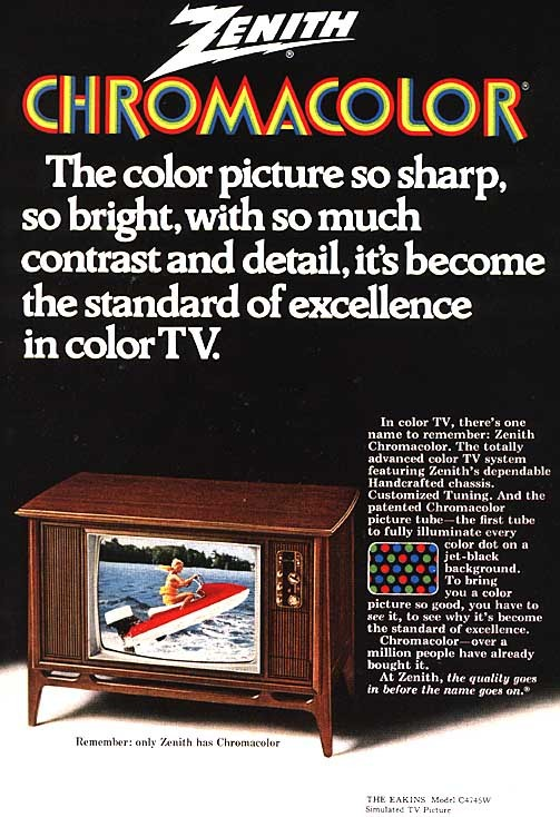 Zenith Chromacolor TV, 1970s