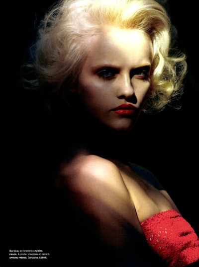 """The River of no Return"", Ginta Lapina photographed by Sean & Seng in Numéro #133"