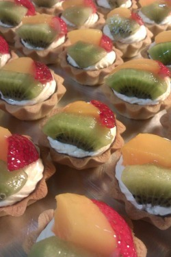 Fruit Tartlets @ S$0.70/each.Minimum order of 30 pieces.