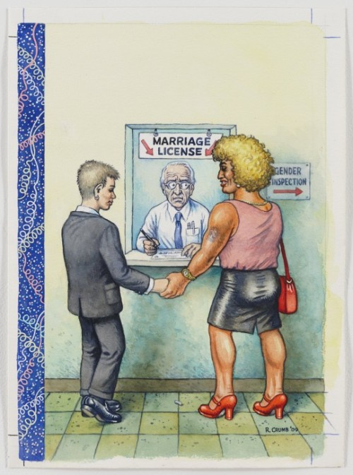Robert Crumb, Marriage license.