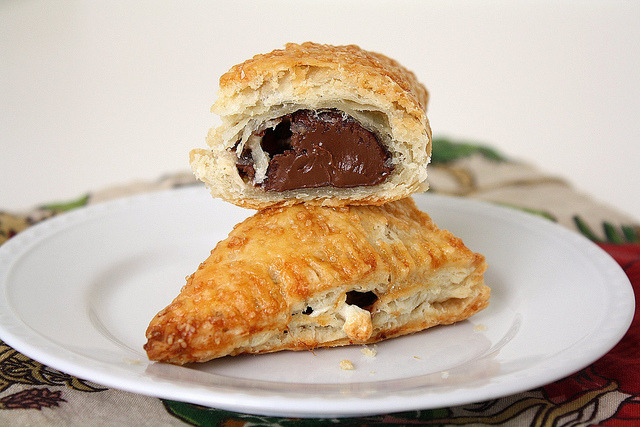 fridgebook:  Nutella Marshmellow Turnovers