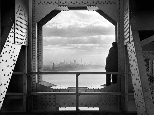 A view of the city from the New York tower of George Washington Bridge, 168th Street & Hudson River, on December 22, 1936. Photograph by Jack Rosenzwieg. From the NYC Municipal Archives Gallery.