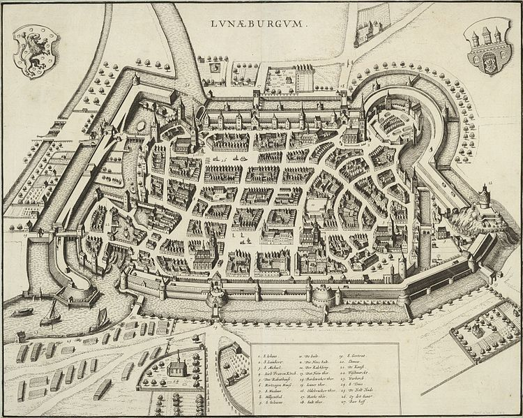 Map of Lüneburg, 1682