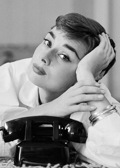 Audrey Hepburn photographed by Mark Shaw, 1953.