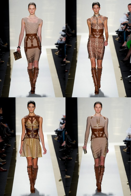 malevine5:  Herve Leger - winter 2012  I see some John style here ;)