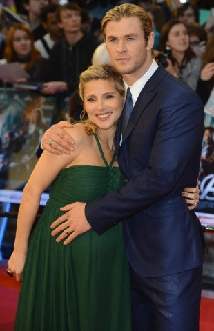 Elsa Pataky and Chris Hemsworth at the premiere of The  Avengers in London