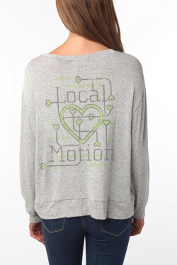 Local Motion Lettering Apparel Print