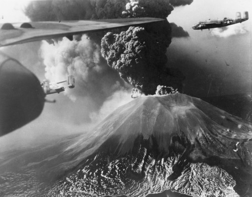 Mount Vesuvius During Eruption, 1944 (via World War II Database)