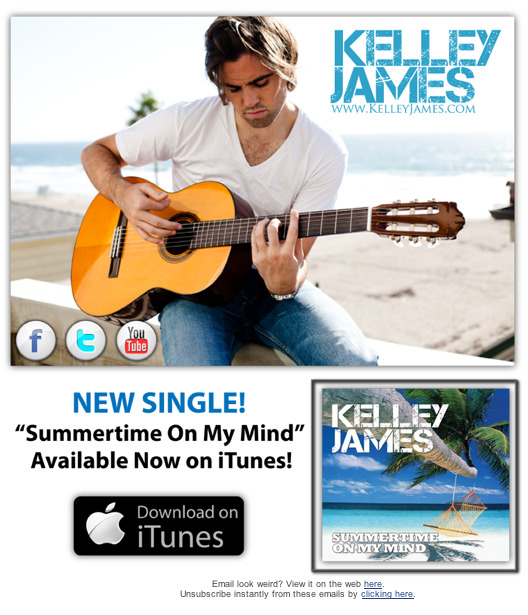 "CHECK OUT THE NEW SINGLE FROM SINGER-SONGERWRITER KELLEY JAMES ""SUMMERTIME ON MY MIND"" photography by Askew II"