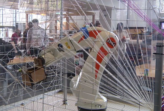 Holy Crap: This MIT Robot Might One Day Weave A Building | Co.Design: business innovation design)