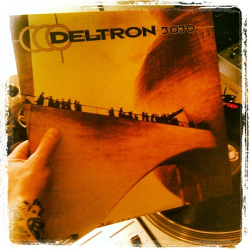 twobeaglesandonedj:  This is happening right now. #deltron3030 #vinyl (Taken with instagram)