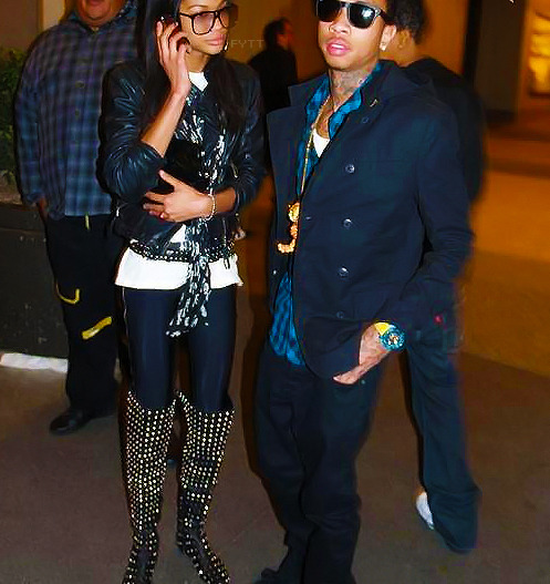 Tyga and he's ex-girlfriend Shanel Iman