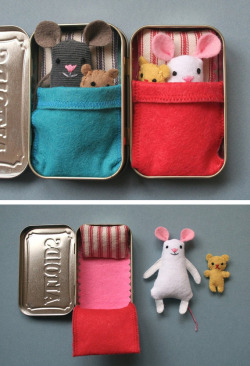 craftdiscoveries:  (via Wee mouse tin house in Entertainment, books and tales for babies and kids)