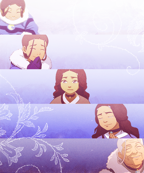 avatarsnowy:   Katara through the years.  my queen