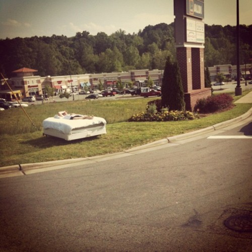 This guy is chillin' so hard. #OnlyInLincolnton #swag (Taken with instagram)