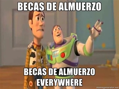 Becas de almuerzo everywhere xD #PUCV