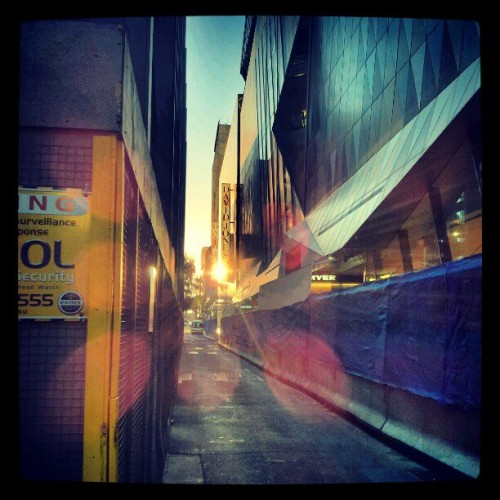 Good morning :) #Myer #Melbourne #sunrise  (Taken with instagram)