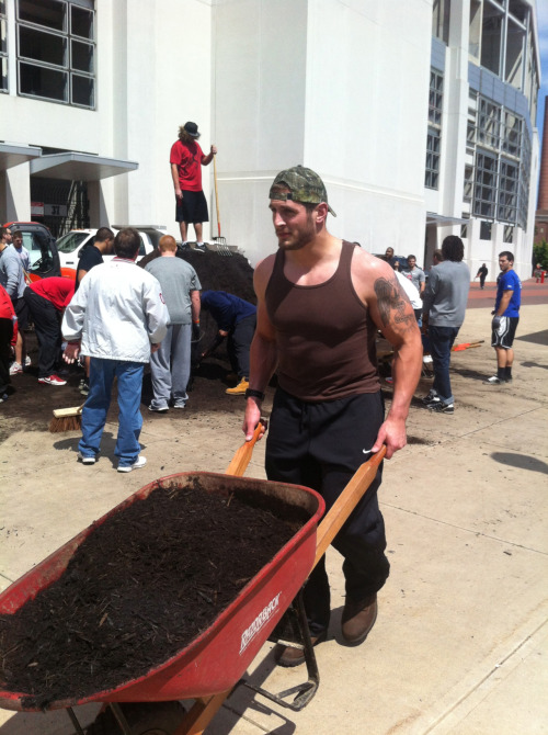Story on the Buckeyes who lost spring game fixing up the Buckeye Grove: click here
