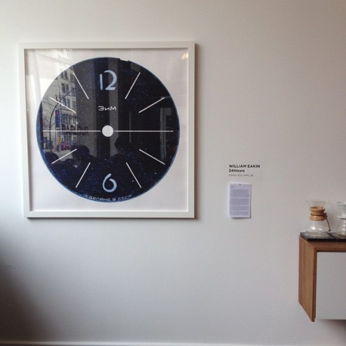 "tomorrow is the last chance to see William Eakin's ""24 Hours"". Our next exhibit starts May 4. Details to follow."