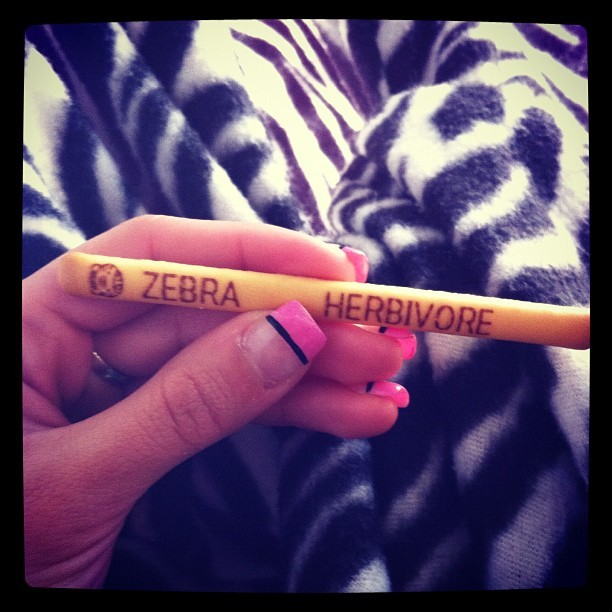 #zebra #herbivore #yanyan #snack #yum (Taken with instagram)