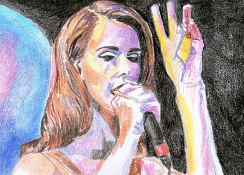 devinwallaceart:  Lana Del Rey performing live at the Bowery Ballroom New York