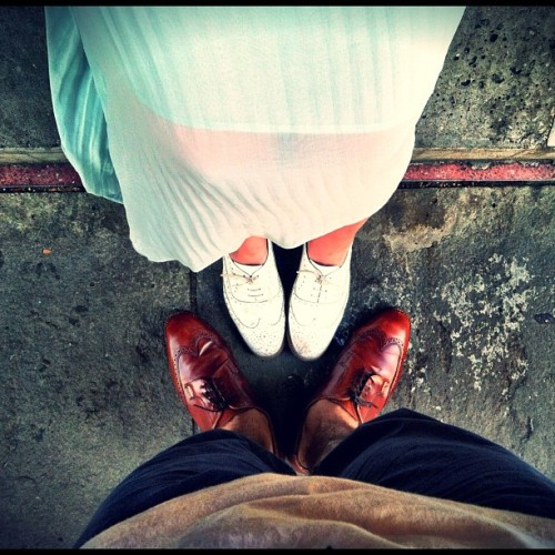palawesomatronicon:  #me #jim #jamie #gf #girlfriend #us #feet #shoes (Taken with instagram)