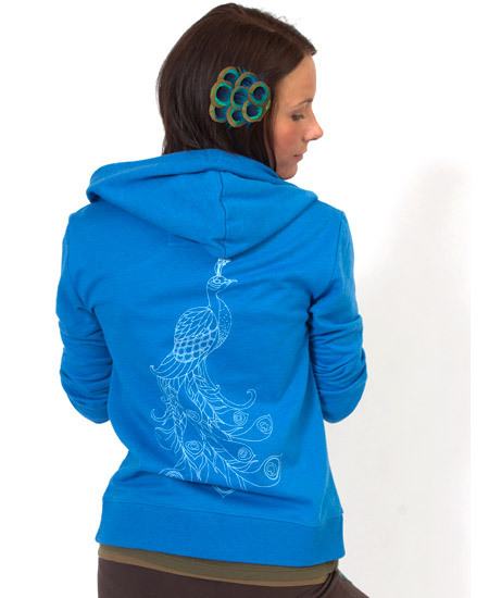 $52 (via NEW! Peacock Women's Eco Hoody: Soul-Flower Online Store)
