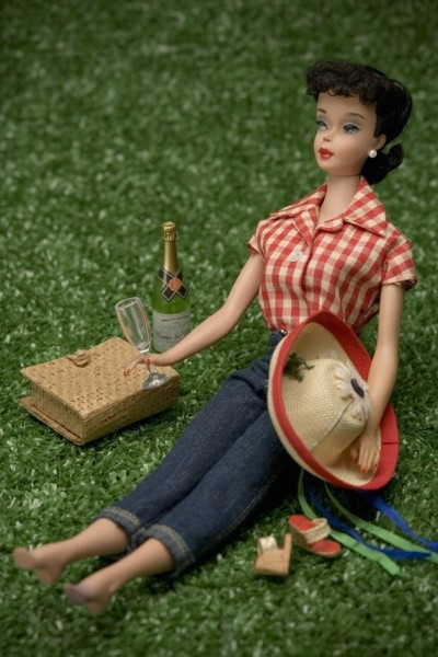 Looks like 1950's Barbie is in the mood to celebrate! photo by Nicole Houff