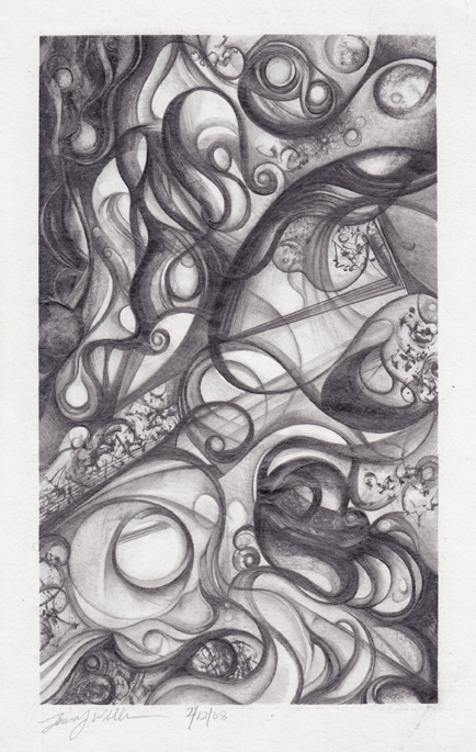 laurajwryan:  Meditation, 2/12/2008 This is a pencil drawing from one of my sketchbooks…I scanned a bunch of these with the intention to do a blurb book some day…a companion book to Elemental with my Fred.