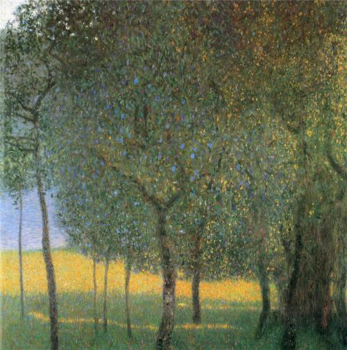 peira:  Gustav Klimt:  Fruit Trees (1901) via The Athenaeum