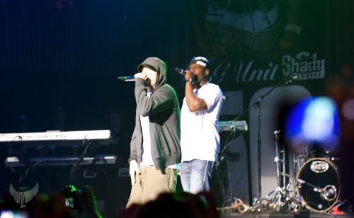 50 Cent and Eminem at SXSW performing 'Get Rich Or Die Trying'