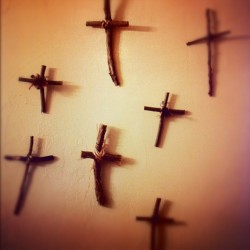 Wall of crosses #catholic #cross #Jesus #santafe #newmexico  (Taken with instagram)