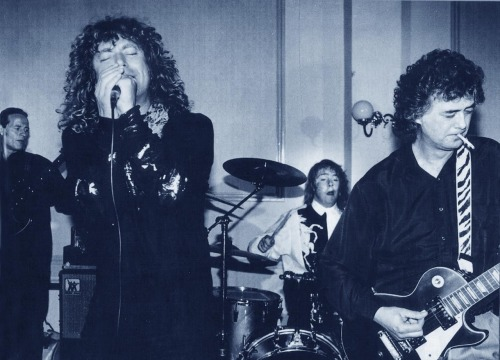 28 APR 1990 I ATTENDED JASON BONHAM'S WEDDING  On this day in 1990, Jason Bonham wedded his wife Jan in Kidderminster - with the three members of Led Zeppelin attending to suitably celebrate. To be a part of the festivities we joined up and played with Jason.