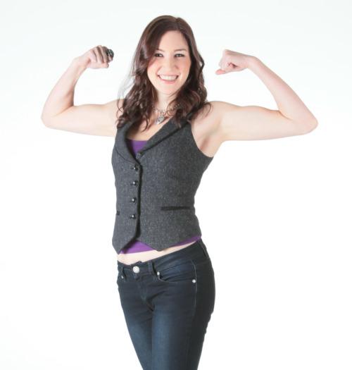 Remember that Flirty Girl Fitness infomercial I did?  I got the photos from the photoshoot in the mail this week.  I was worried because of how completely unrecognizable they made me, but it actually turned out ok.  However, this is one of the only pics (out of 204!) where I'm not obviously participating ironically, lol.  The whole thing is so cheesy.  So this is likely the only pic I'm posting here, just because at least I'm genuinely laughing, even if it is at how silly the whole thing is :P