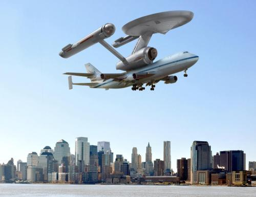 My favorite shot of Enterprise flying over NYC.