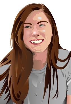 proudmemberofdumbledoorsarmy:  my self portrait i did for illustrator 100 :)