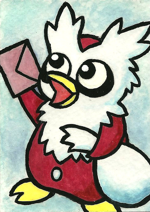 paperscizorsrock:  Delibird Card by ~Cattype