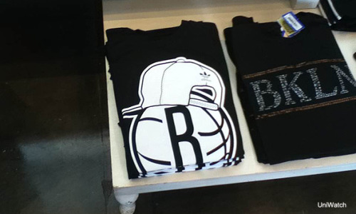Brooklyn Nets merchandise.