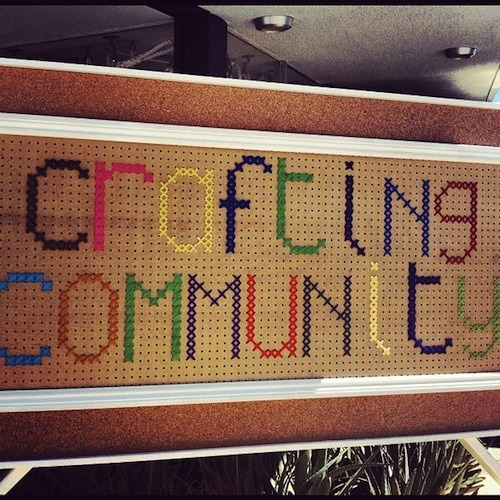 Crafting Community with Kimmel Kids and Splendid takes off today at Ace Hotel & Swim Club — three days of radness with artists large and small. If you're not here already doing yoga, making cool stuff, skateboarding, eating s'mores, you can get day passes or stay the weekend by calling us here.     All shots from Kimmel Kids on Instagram