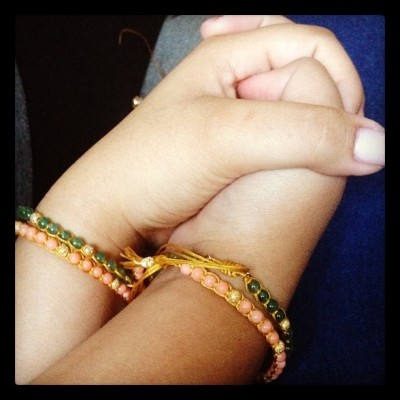 Sister bracelets. 😊💗  (Taken with instagram)
