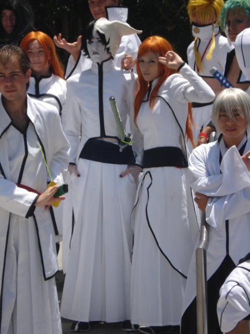 Another round of random cosplay photos of ours.I miss our Bleach costumes.  (Ulquiorra x Orihime!)Here's to a brand new Bleach photoshoot this summer! We're driving out to some Californian dunes and everything!